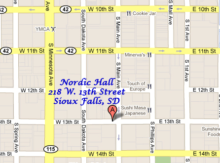 Nordic Hall location